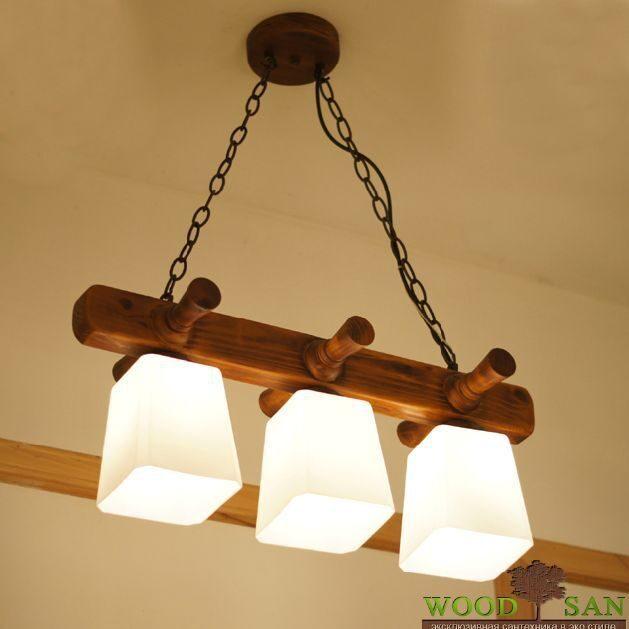 Светильник из дерева на кухню